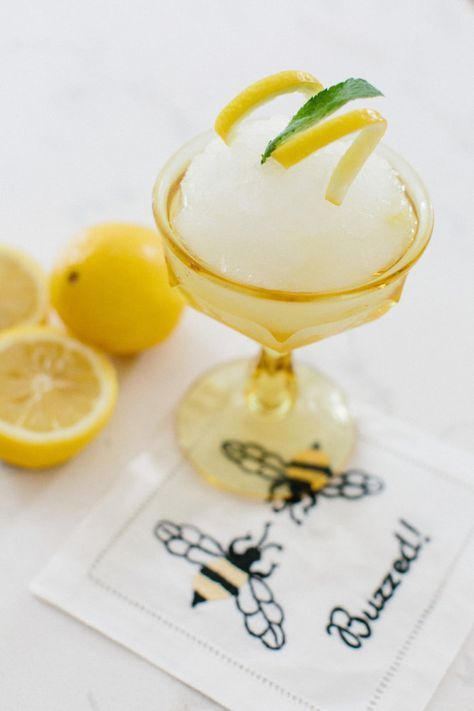 Frozen lemonade: http://www.stylemepretty.com/living/2015/08/11/frozen-bubbly-lemonade/ | Photography: Erin McGinn - http://erinmcginn.com/