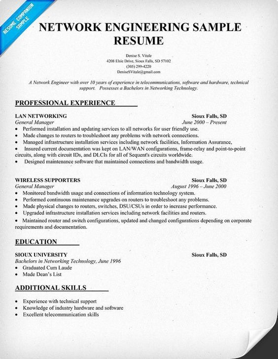 Buy Resume For Writing Network Engineer