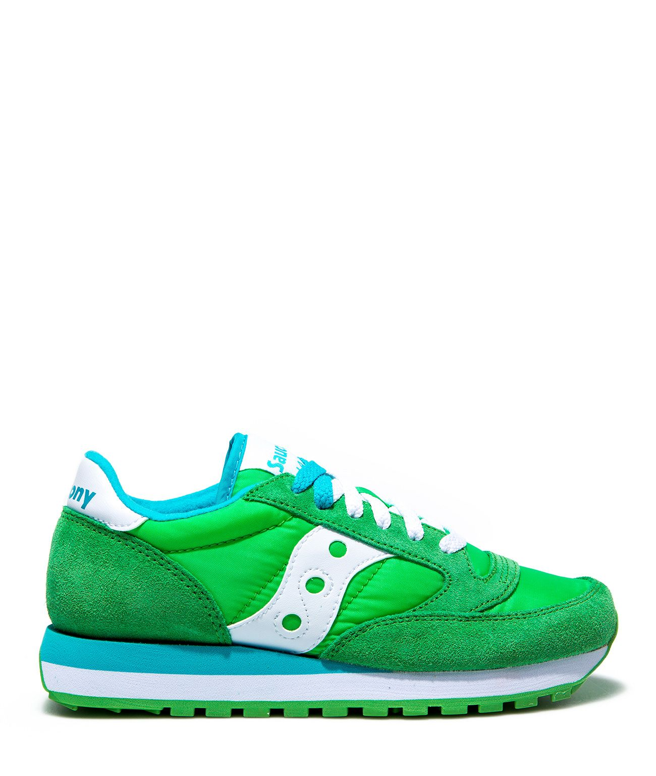 GREEN SUEDE AND NYLON SAUCONY JAZZ ORIGINAL SNEAKERS GREEN SAUCONY  #playgroundshop #saucony #sneakers