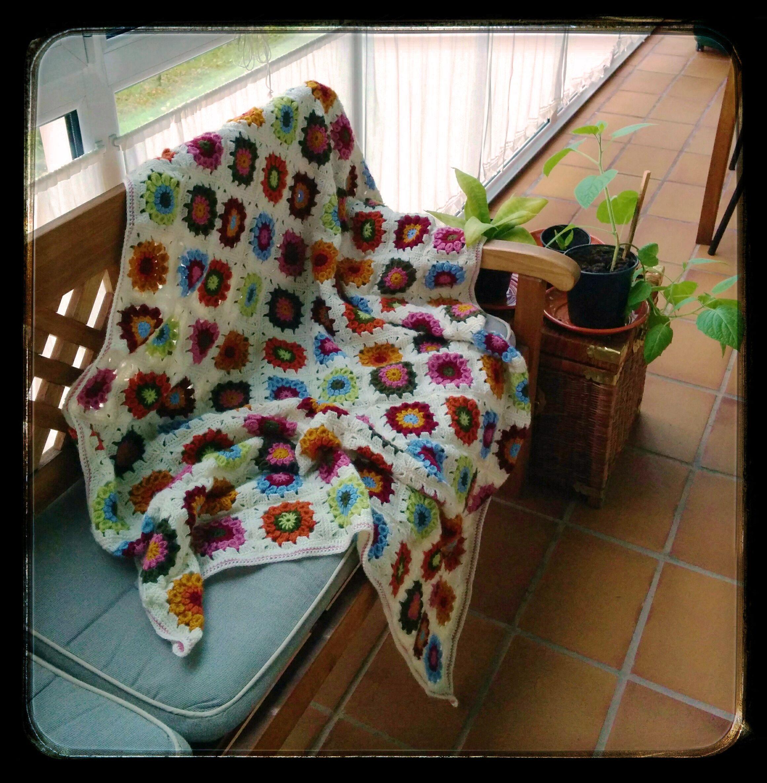 Manta de circulos. Ganchillo (crochet)