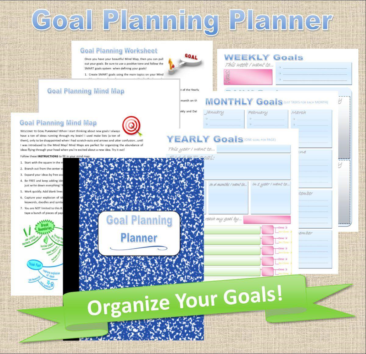 Printable Goal Setting Planner Goal Planner Pdf Monthly Goal Tracker Weekly Goal Tracker Goal Planner Goals Planner Goal Planning Worksheet Goals Worksheet
