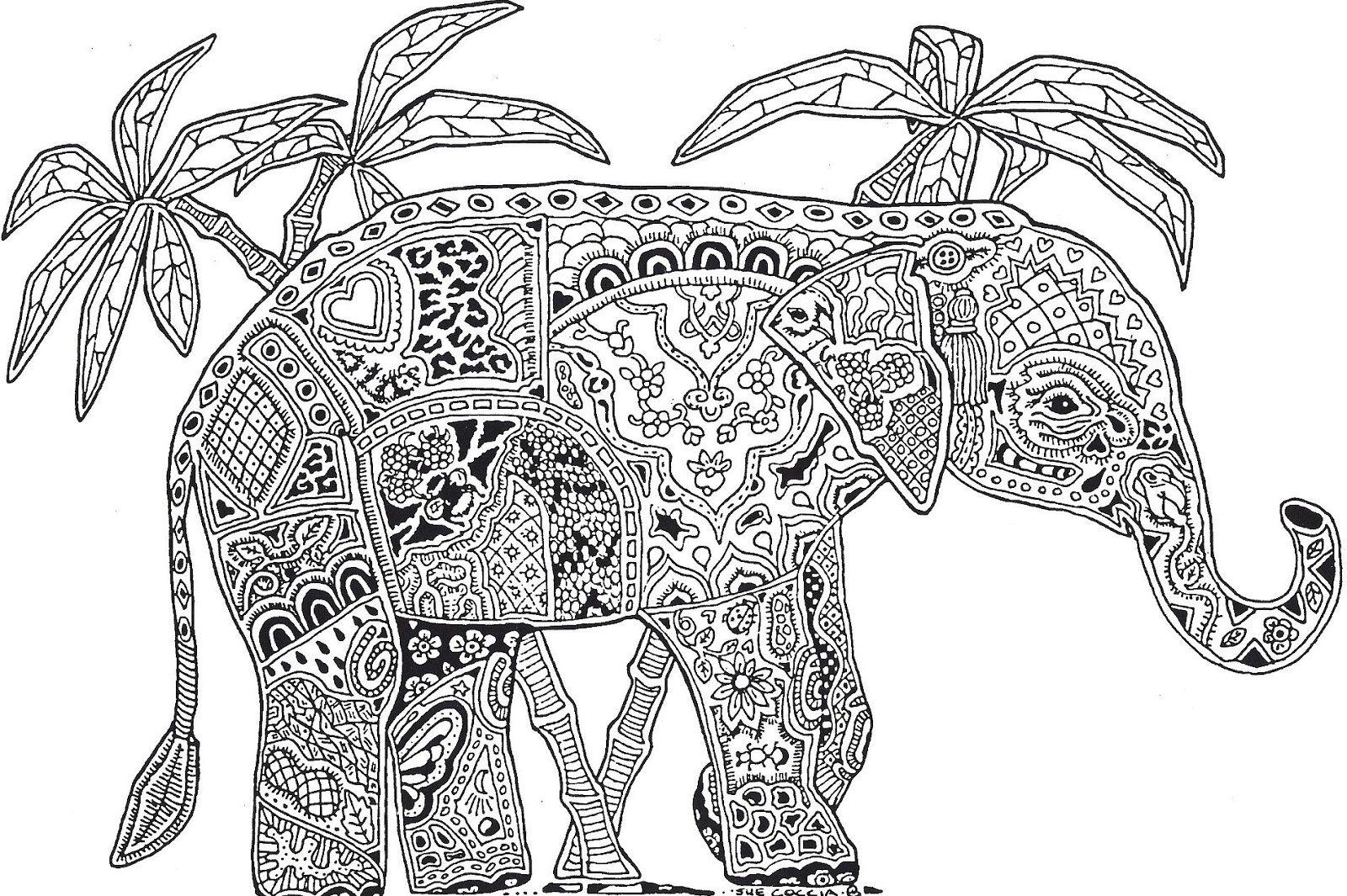 Slon Kolorowanka Elephant Coloring Page Detailed Coloring Pages Animal Coloring Pages
