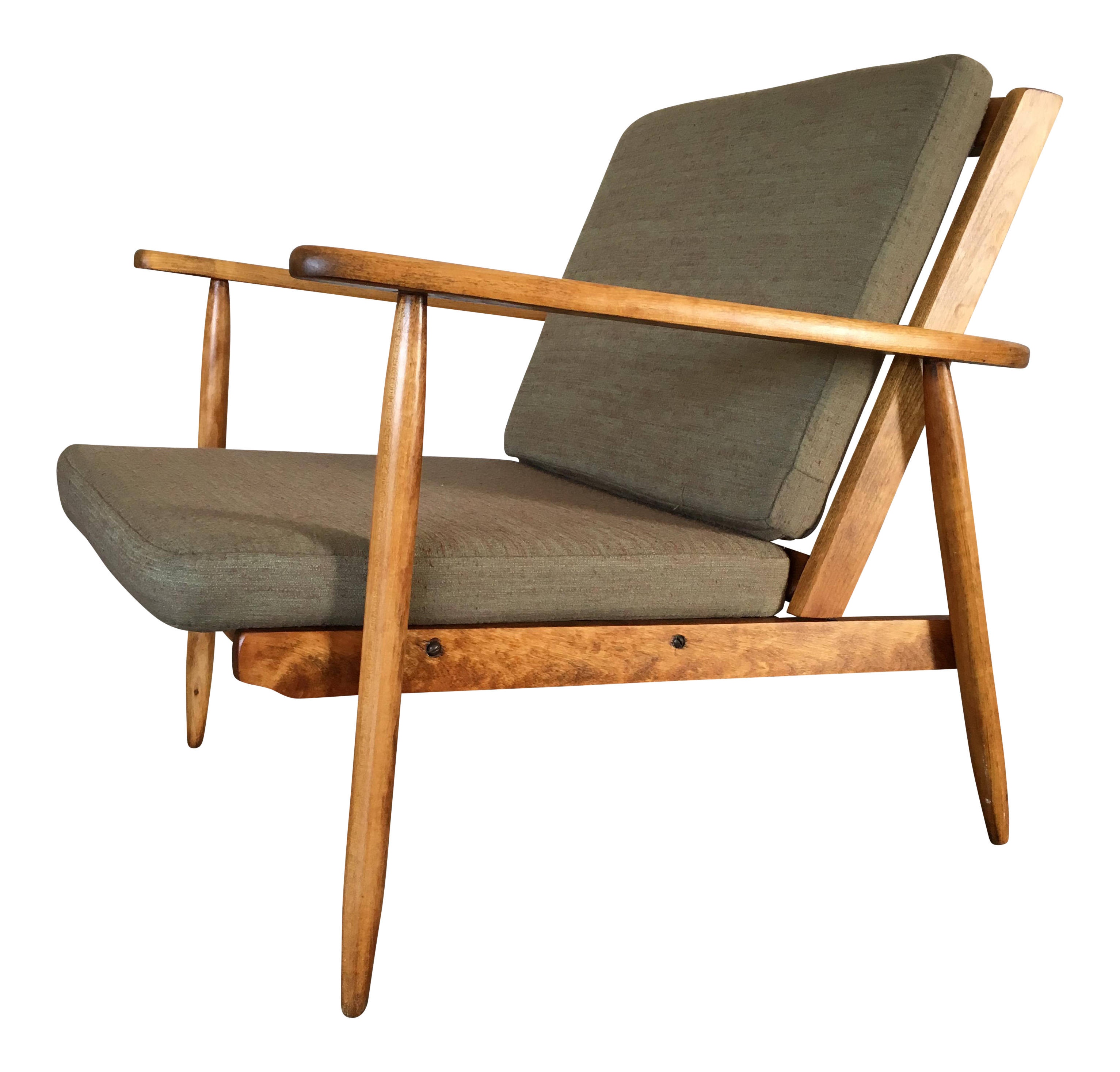Danish Modern Style Lounge Arm Chair on Chairish.com