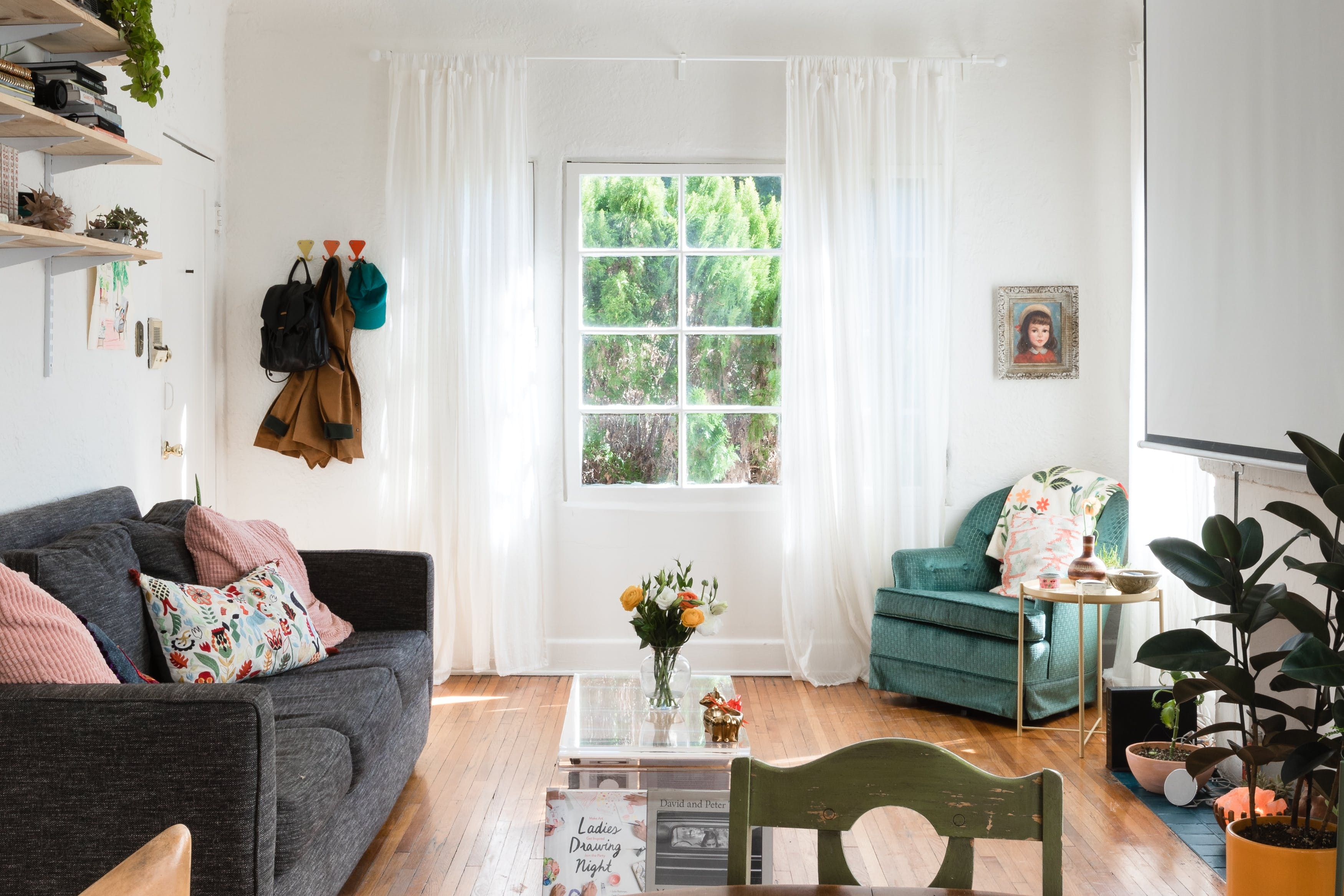 Master Of None S Noel Wells Vibrant And Personal La Rental Retractable Projector Screen Home Home And Living #projector #for #living #room #instead #of #tv