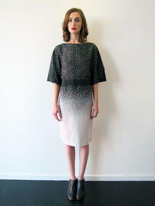 Flower Gradient Print Dress