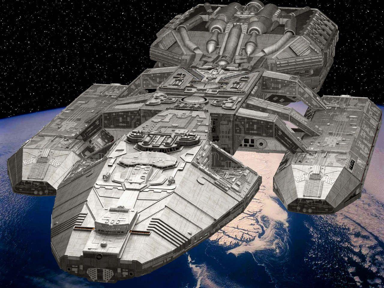 Battlestar Galactica Starships | the battlestar galactica craft colonial battlestar type colonial ...