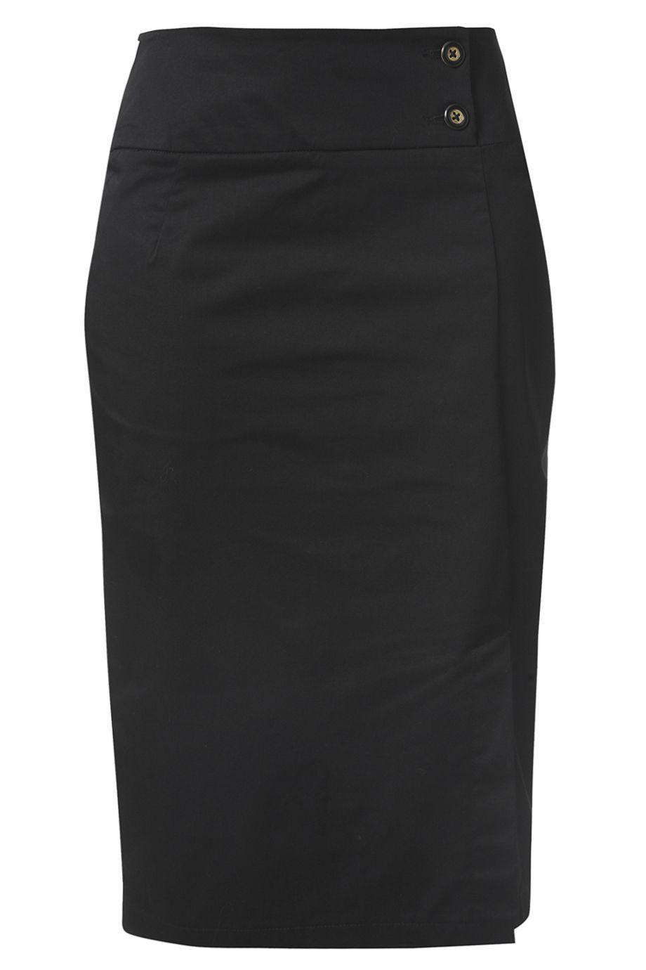 race sky marina black pencil skirt fashion black and