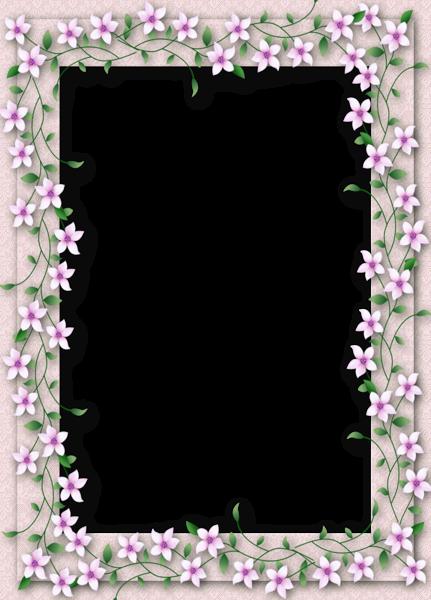 Delicate png transparent flower frame marcos y fondos decorativos pinterest cadres - Papier autocollant transparent ...