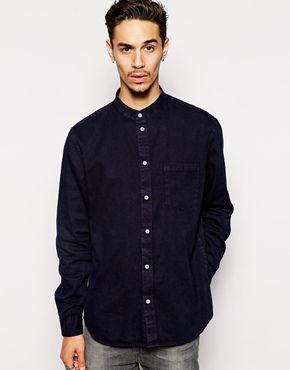 Cheap Monday Collarless Shirt | ASOS)