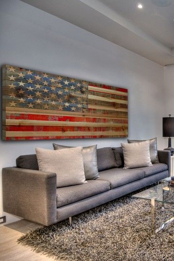 Usa Flag Brown Distressed Wood Wall Art This Is Great