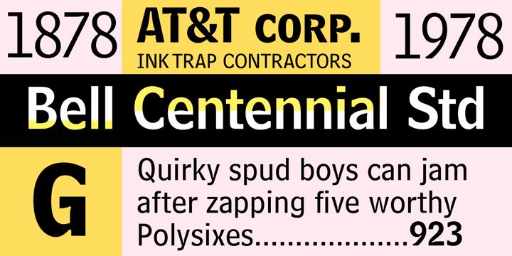 Bell Centennial Font Download Centennial Matthew Carter Belle