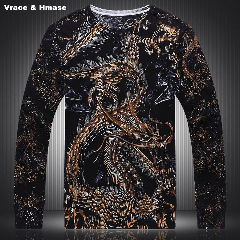 a3da74ece52be7 personality 3D dragon pattern knitted sweater