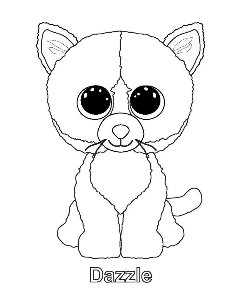 Coloring Rocks Beanie Boo Birthdays Cat Coloring Page Pictures Of Beanie Boos