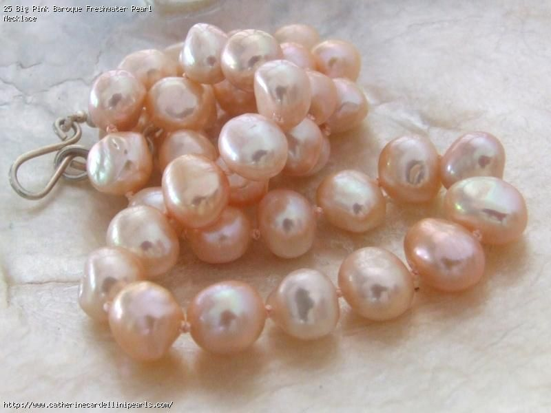 Big Pink Baroque Freshwater Pearl Necklace Freshwater Pearls Freshwater Pearl Necklaces Pearls