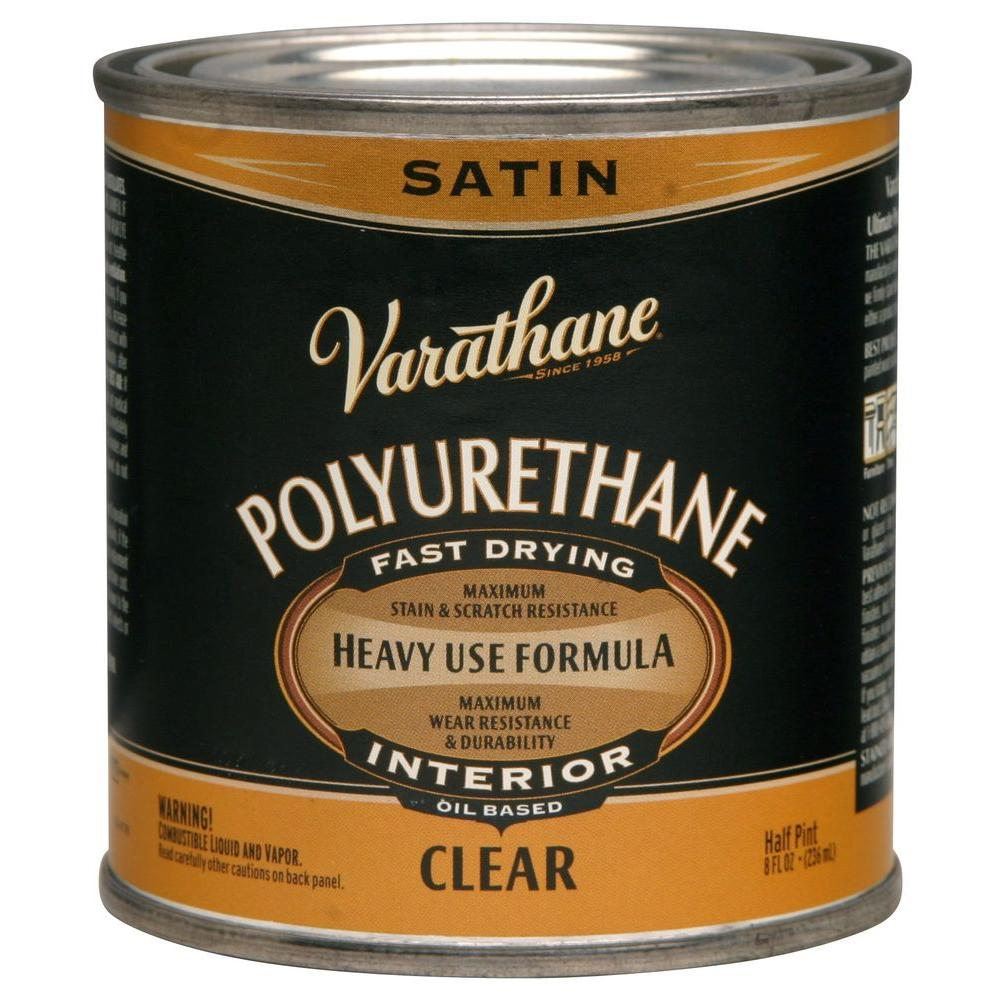 Varathane 8 Oz Clear Satin Oil Based Interior Polyurethane 4 Pack Polyurethane Floors It Is Finished Outdoor Wood Projects