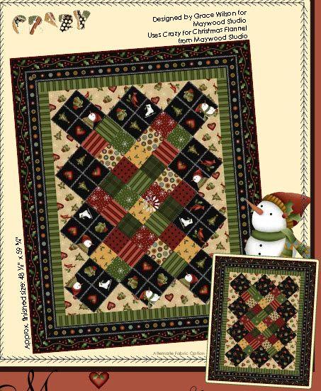 Crazy for Christmas Flannel : QuiltsInMontana.com at Quilters ... : montana quilt shops - Adamdwight.com