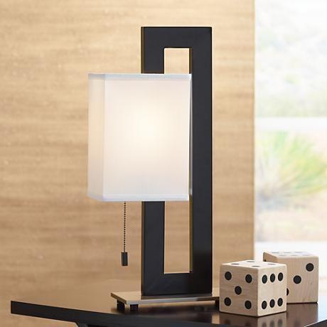Floating Square Black Modern Table Lamp 84182 Lamps Plus Modern Table Lamp Square Table Lamp Modern Lamp Design