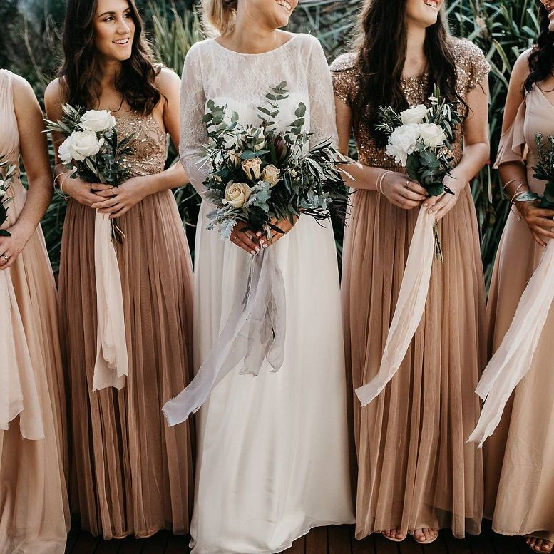 Coffee colored bridesmaid dresses
