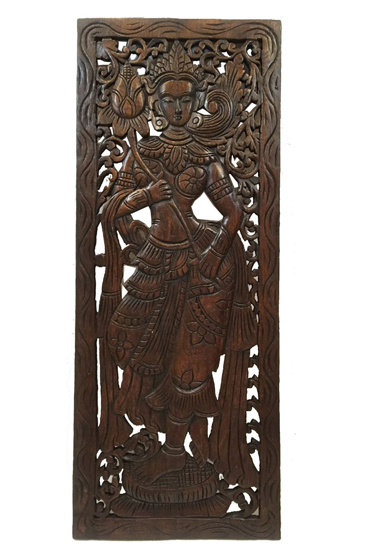 Carved Wood Wall Art Decor Inspiration Wood Carved Wall Artlarge Carved Wood Panelthai Decorative Decorating Design