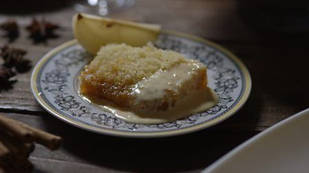 This steamed pudding is a deceptively easy recipe that will go down bbc food recipes treacle sponge pudding with spiced pears forumfinder Image collections