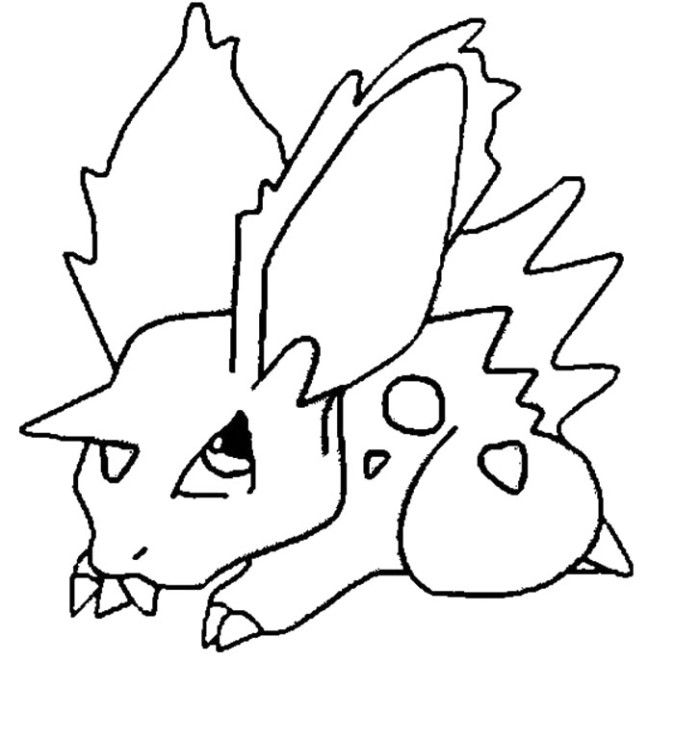 Nidoran Pokemon Coloring Pages Pokemon Coloring Pages