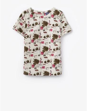 Joules Womens Top London Bus Lightweight Soft And Guaranteed To Keep You Cool This Short Sleeved Is Extremely Versatile