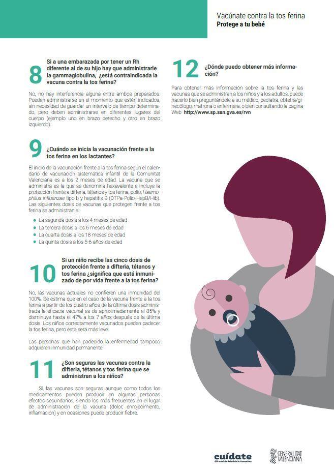 efectos secundarios de la vacuna de la tosferina en embarazadas