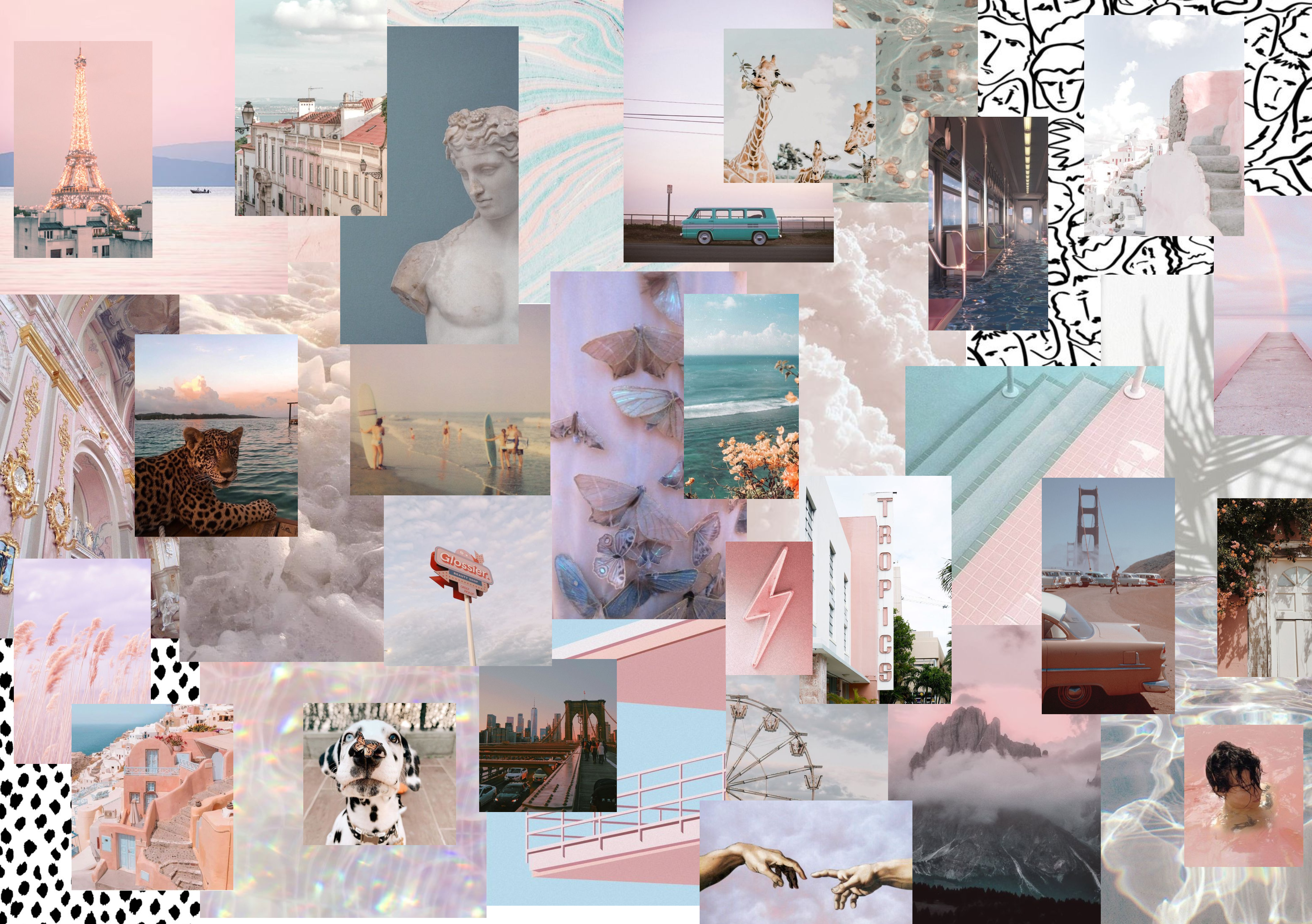 Cute Collage Wallpaper For Laptop