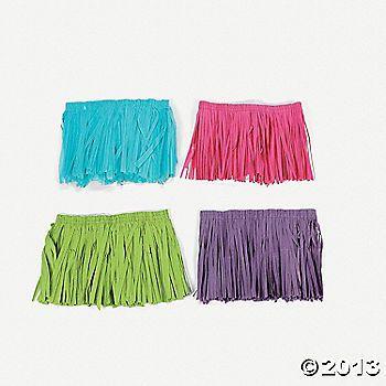 Kiddie Mini Hula Skirts