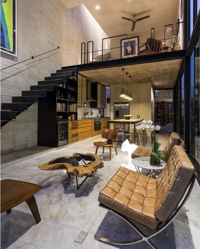 "One of our favorite loft design!❤ ""Casa Desnuda"" in #Mexico design by Taller Estilo Arquitectura / Photo by David Cervera #d_signers"
