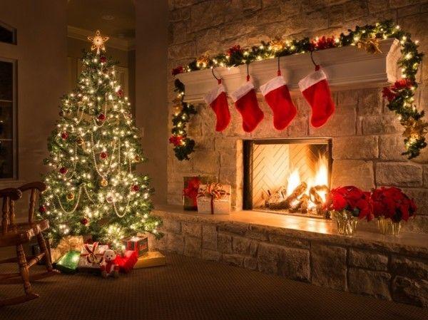 Weihnachtsbilder Kamin.100 Aktuelle Und Traditionelle Ideen Für Ihren Weihnachtskamin
