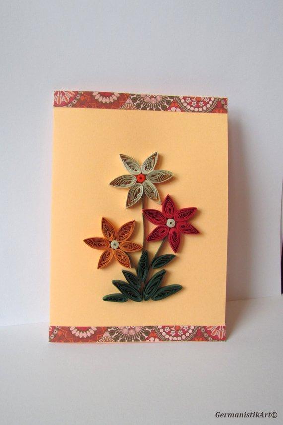 Spring greeting card flower art birthday blank  mi also miss you love rh pinterest