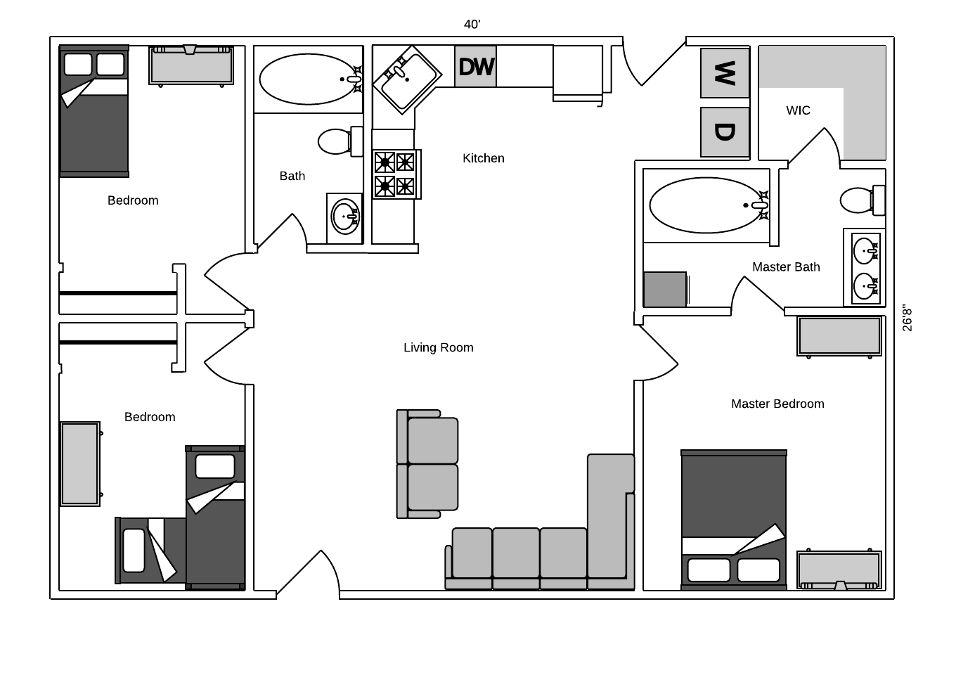 Small House Floor Plan Free And Completely Customizable