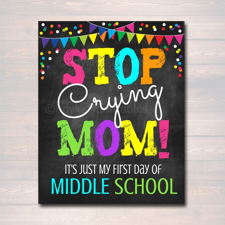 Stoppen Sie #Crying #Mom, #Back #to #School #Photo #Prop, #First #Day #of #Middle #School #Chalkboard #Signs, # 1st #Day #of #School #Funny #Mom #Prop, #INSTANT # HERUNTERLADEN #firstdayofschoolsign