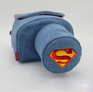 Custom DSLR Camera Case Bag Superman Icon Made to by PessyLee