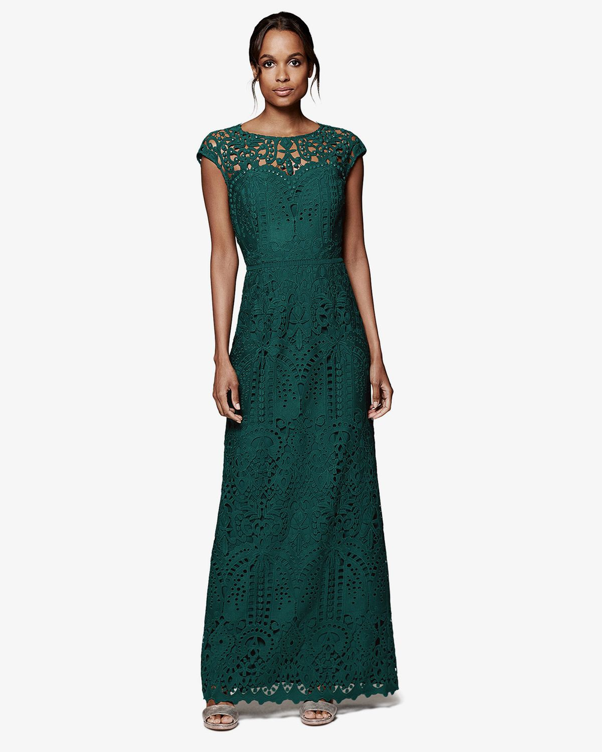 148cc07d530e Phase Eight Gloria Lace Full Length Dress Green | Wedding ireland ...