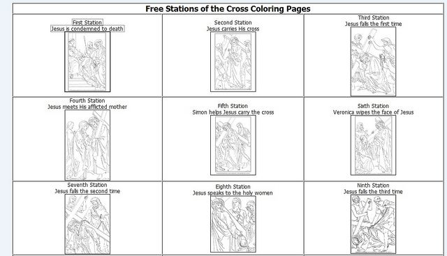 Keeping a Holy Lent :: Stations of the Cross for Children | Coloring ...