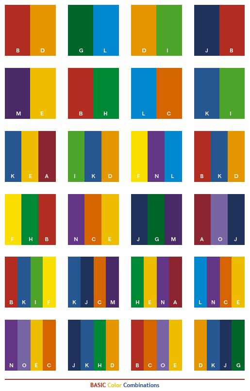 Basic Color Combinations Color Schemes Color Combinations Color Coding