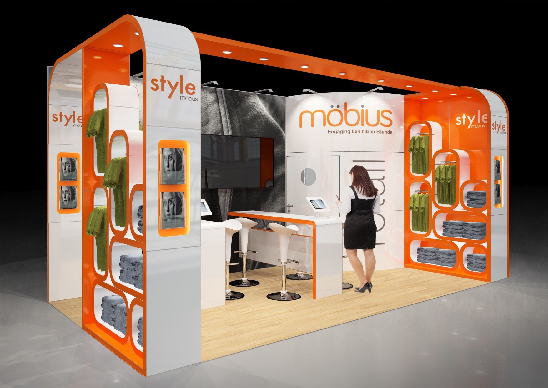 Expo Stands Design : M m open sides bespoke quality exhibition stand design