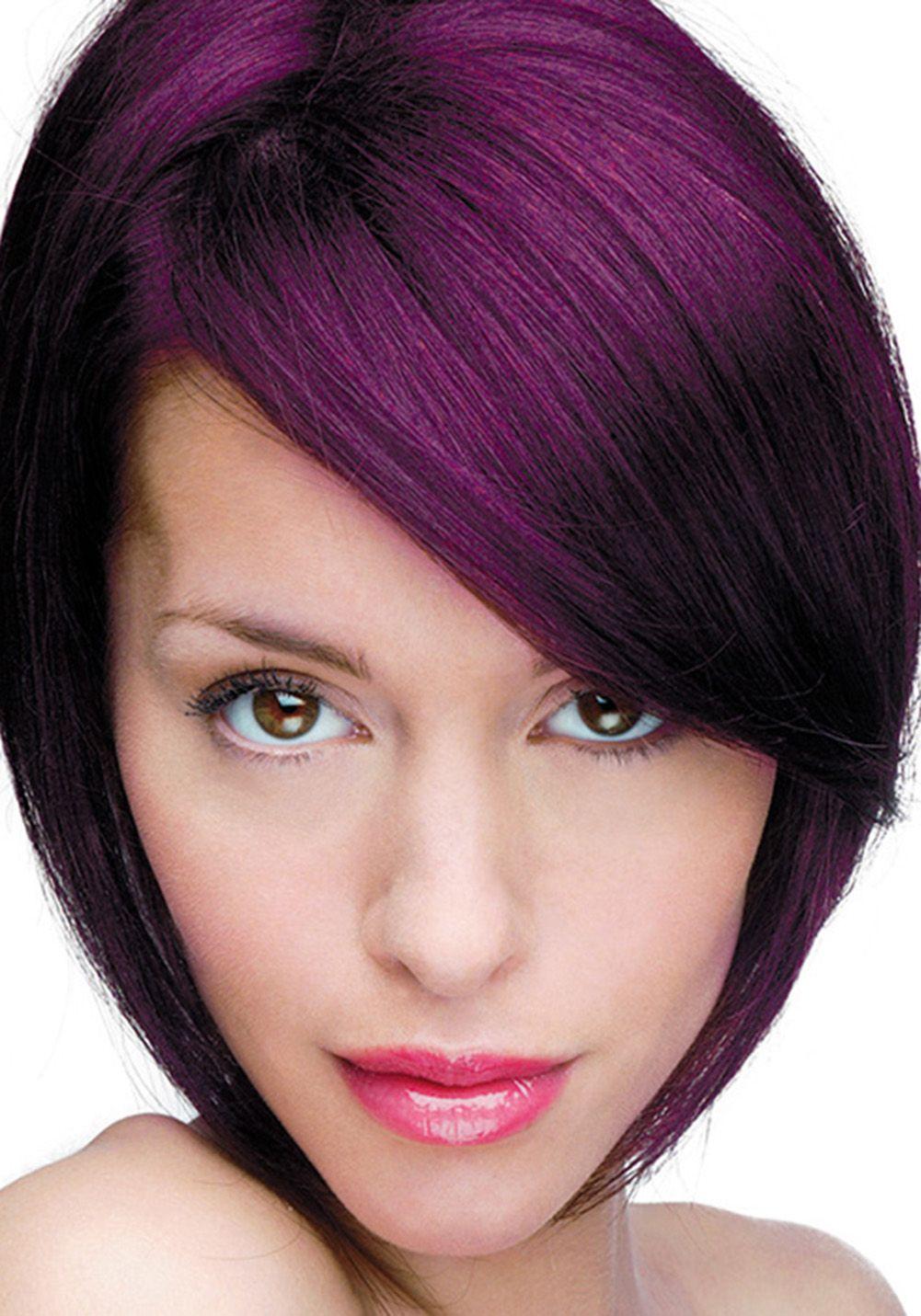 dark redish purple hair - google