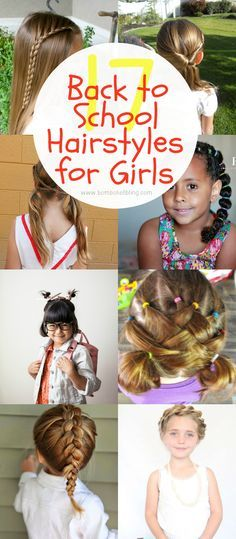 17 Fun Back to School Hairstyles for Girls   hair style   Pinterest ...