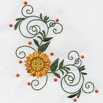 Sunflower Border 2 Lyn C 350 350x350