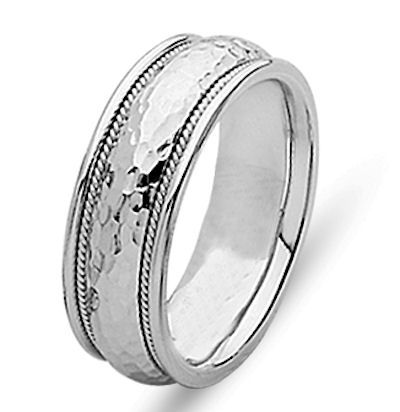 85308960108b 14 Kt White Gold Wedding Ring