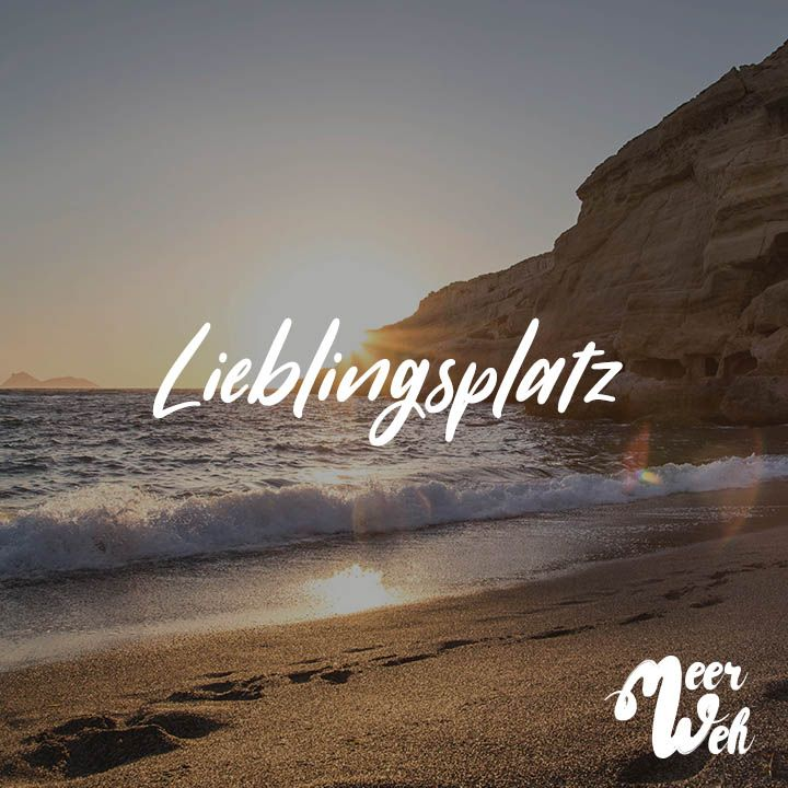 Visual Statements® Lieblingsplatz. Sprüche / Zitate / Quotes / Meerweh / Wanderlust / travel / reisen / Meer / Sonne / Inspiration