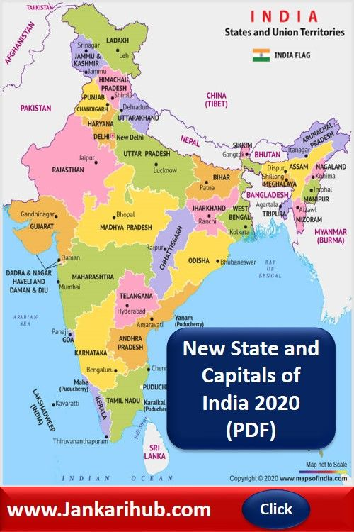 States and Capitals of India 2020 pdf - States and