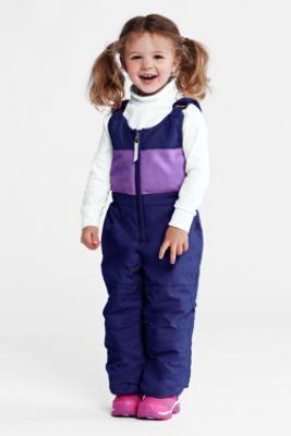 Toddler Girls' Stormer Snow Bibs from Lands' End