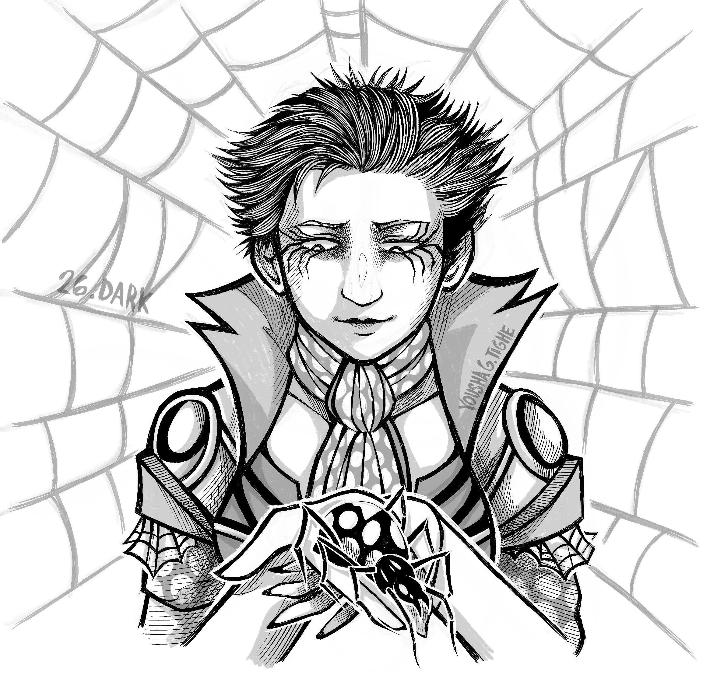 Feat Spider Girl Oc Portia Aranea With Her Precious Spider