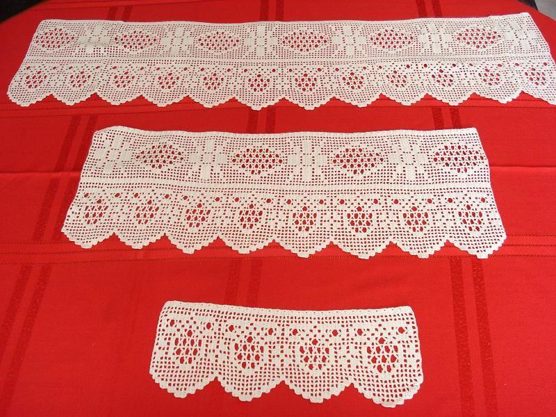 Puntillas para juego de toallas n 10 bordes de ganchillo - Puntillas para cortinas ...