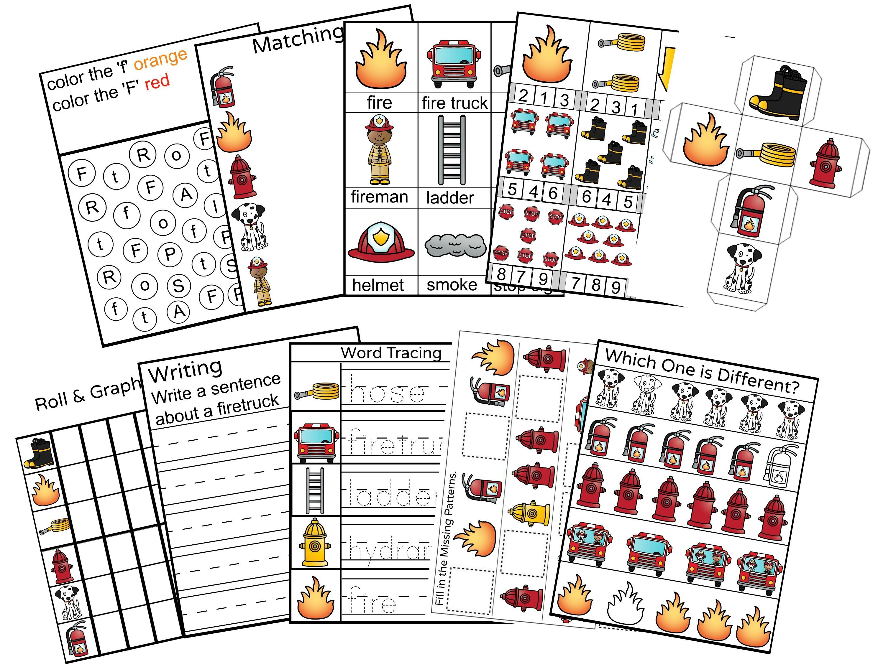 Fire Safety Preschool Activity Pack For Fire Safety Preschool Theme Fire Safety Preschool Fire Safety Preschool Activity [ 2280 x 2977 Pixel ]
