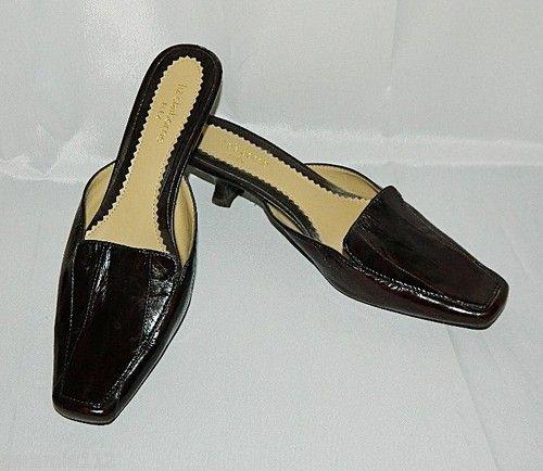 LIZ CLAIBORNE Brown Mules Slides